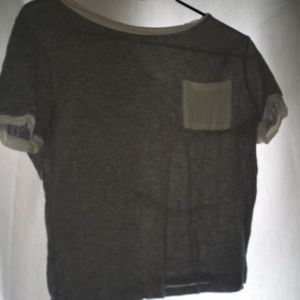 A white and gray shirt